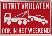 Productafbeelding Uitrit Vrijlaten Weekend Bord Rood Wit klein