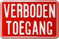 Productafbeelding Bord Verboden Toegang 30 x 20 klein