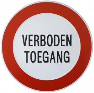 Productafbeelding Verboden Toegang Bord Ø 24 cm large