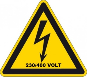 Productafbeelding 230-400 Volt Sticker 20 large