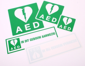Productafbeelding AED Stickers large
