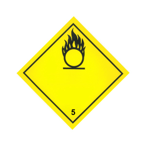 Productafbeelding ADR Pictogram Sticker Oxiderende Stoffen 30 large