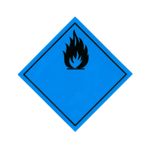 Productafbeelding ADR Pictogram Sticker Brandbaar Gas Contact Water 30 large