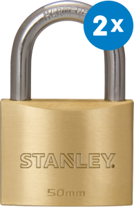 Productafbeelding Hangslot Stanley 50 mm 2-pack large