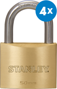 Productafbeelding Hangslot Stanley 50 mm 4-pack large