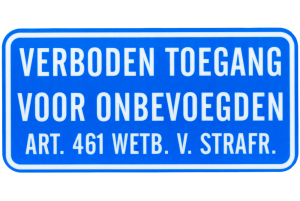 Productafbeelding Verboden Toegang Sticker large