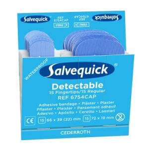 Productafbeelding Navulling Salvequick Haccp Vingerpleister large